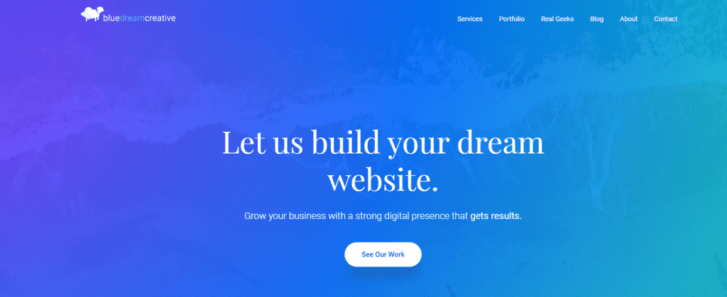 Blue Dream Creative website design for cannabis